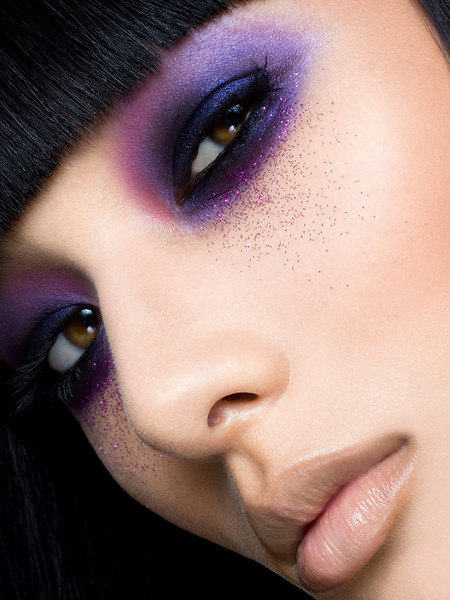 Purple glitter eyes by Matthew Jordan Smith