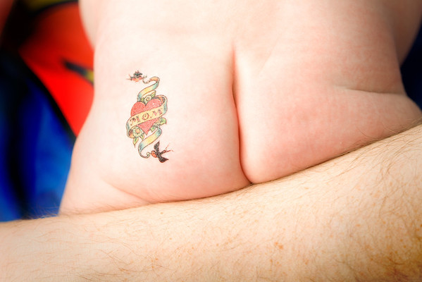 Baby bottom tattoo for mom